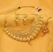 necklace set sukkhi traditional gold plated kundan choker necklace set for women