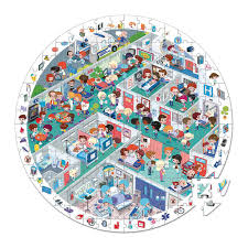janod round puzzle emergency room 208p