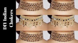 diy indian chokers super easy to make u0026 highly affordable youtube