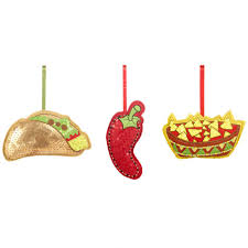 food christmas decorations set of 3