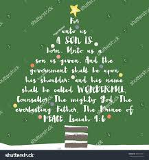 christmas tree typography bible verse christian stock illustration