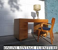 Retro Modern Desk Heywood Wakefield 1950s Desk Vanity Vintage Mid Century
