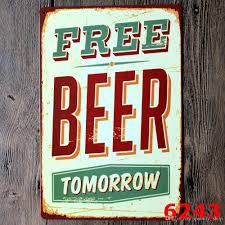Metal Signs Home Decor Online Cheap Cold Beer Wine Here Wall Metal Painting Retro