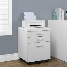 Three Drawer File Cabinet Shop Monarch Specialties White 3 Drawer File Cabinet At Lowes Com