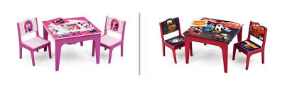 minnie mouse table set amazon com delta children deluxe table chair set with storage