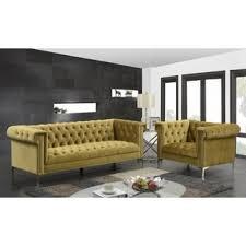 Armen Living Barrister Sofa by Armen Living Barrister Modern Green Velvet Sofa Free Shipping