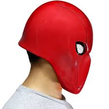 halloween equipment xcoser red hood mask helmet full head pvc mask for halloween