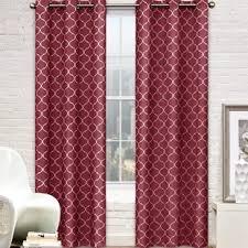 geometric red curtains u0026 drapes you u0027ll love wayfair