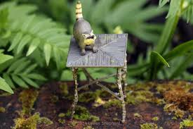 Rocking Bird Garden Ornament by How To Make Fairy Garden Furniture From Twigs