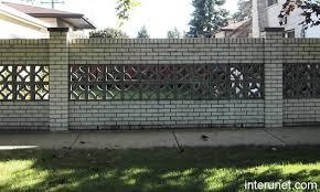 Brickfencewithdecorativeconcreteblocks Florida Style - Brick wall fence designs