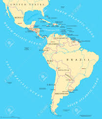 Countries Of South America Map Map Of Central And South America Political Map Of El Salvador