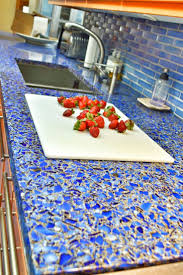 Recycled Glass Backsplashes For Kitchens Kitchen Countertop Colors Pictures Ideas From Hgtv Cobalt Blue
