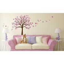 stickers chambre bébé leroy merlin sticker arbre a c ur 50 cm x 70 cm chambre bébé