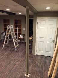 basement support post basement decoration ideas
