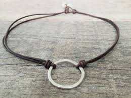 circle necklace silver sterling images Sterling silver cross necklace rustic cross leather necklace jpg