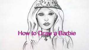 draw barbie easy step step