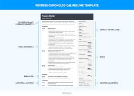 resume chronological format chronological resume template 20 exles complete guide