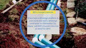 yard drainage in oklahoma city bills custom concrete yard