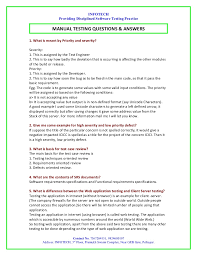 manual testing interview question by infotech