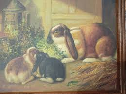 vintage rabbit vintage lop eared rabbit painting omero home