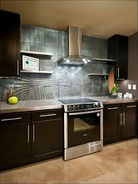 kitchen large glass tiles mirror backsplash blue backsplash tile