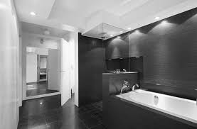 bathroom elegant black white bathroom interior with glossy looks