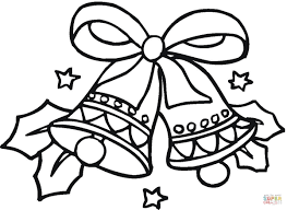 christmas bells coloring page free printable coloring pages