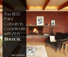 the best tan paint colour to go with red toned brick fireplace