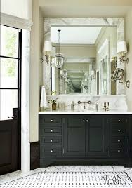 Black Bathroom Cabinet Black Bathroom Cabinets With White Marble Countertops