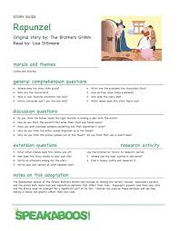 lesson plans rapnuzel speakaboos worksheets fairy tales