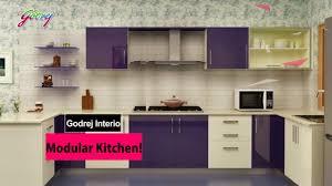 Home Interior Design Godrej Godrej Modular Kitchen Youtube