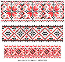 ukraine pattern vector three seamless red embroidered good like stock photo photo vector