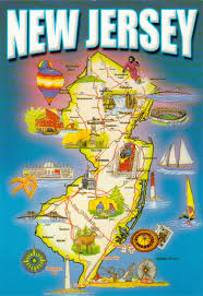 Travel Map Of Usa by Detailed Tourist Map Of New Jersey State New Jersey State Usa