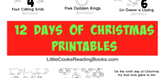 12 days of christmas coloring page 12 days of christmas printables coloring sheets little cooks