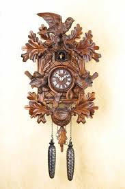 How To Wind A Cuckoo Clock Carved Quartz Cuckoo Clock With 45cm Oak Leaves And 3 Birds By