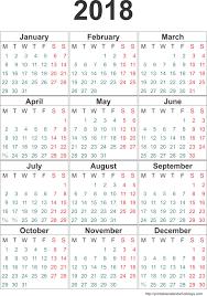 Yearly Calendar 2018 Weekly Calendar Template – Printable Calendar