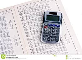 Logarithm Table Dutch Logarithm Table With Calculator Stock Photo Image 22397450