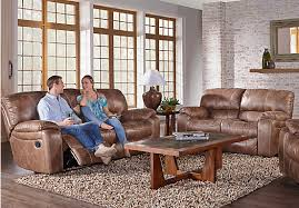 Sofa Rooms To Go by Cindy Crawford Home Alpen Ridge Tan Reclining Sofa Reclining