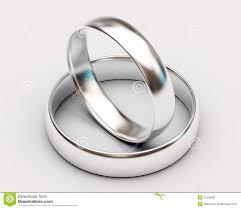 Platinum Wedding Rings by Two Platinum Wedding Rings On White Background Stock Photo Image
