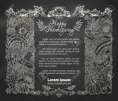 chalk thanksgiving frame vector traditional festive symbols