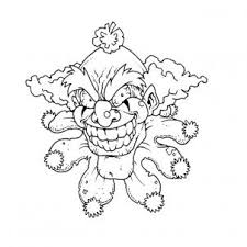 draw scary clowns step step creatures monsters free