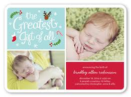 the greatest gift 5x7 boy birth announcements shutterfly