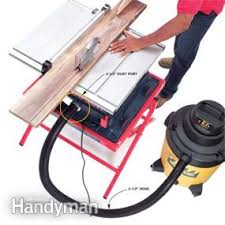 dewalt table saw dust collection using a shop vacuum for dust collection family handyman