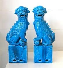 blue foo dogs pair of turquoise foo dogs pieces