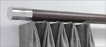 Grey Wooden Curtain Pole Wood Pole Curtain Rod