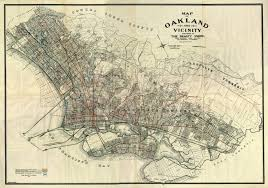 map of oakland map of oakland and vicinity published by the realty union