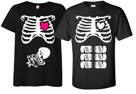 baby shower shirts maternity t shirt costume rib cage and baby skeleton