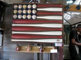 Painting A Flag Baseball Painted Furniture Baseball Bats And Balls Re Purposed