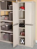 Sterilite Storage Cabinet Sterilite 4 Shelf Unity Cabinet With Putty Handles