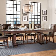 Cindy Crawford Dining Room Furniture Hayden Trestle Dining Table With Metal Table Slides By Intercon